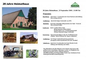 20 Jahre Heimathaus Programm